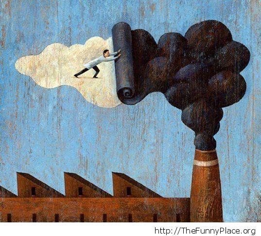 No polution painting