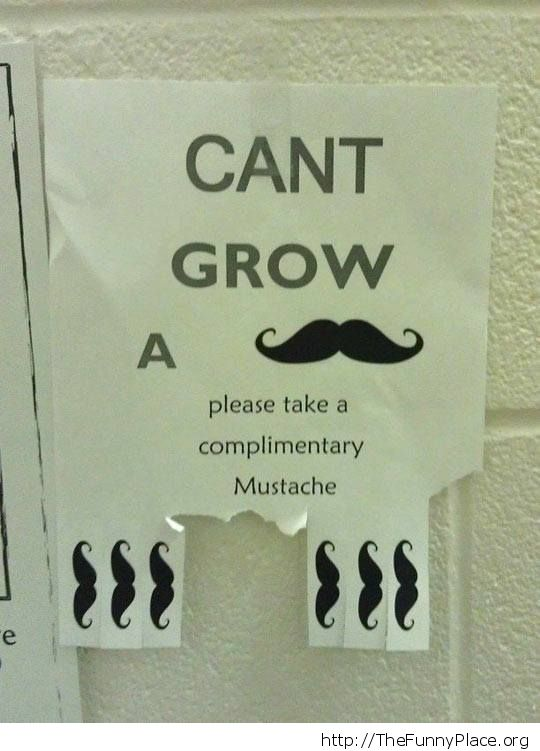 Not enough mustache