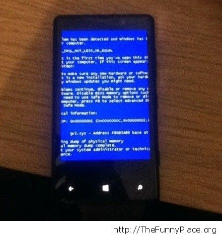 Blue screen now on your phone