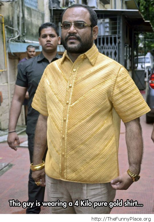 Classy gold shirt