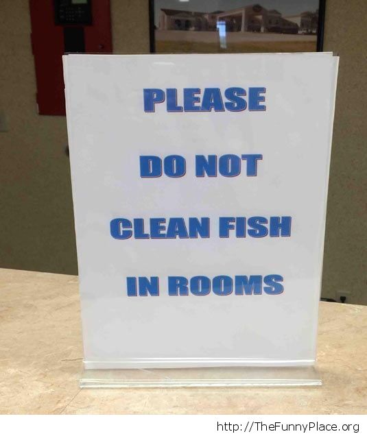No fish cleaning