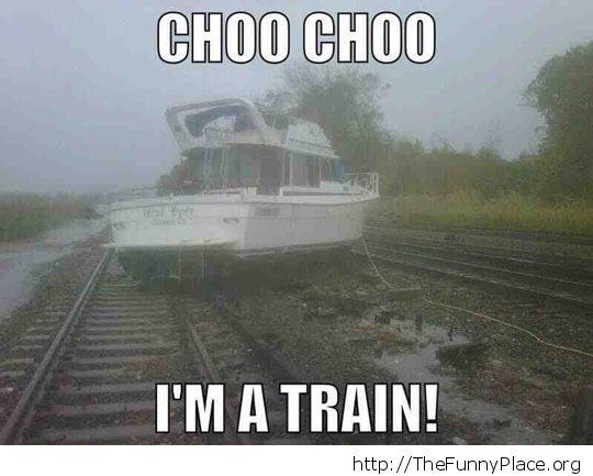 Train boat