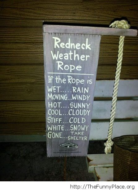 Weather rope