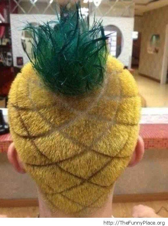 Ananas hair cut