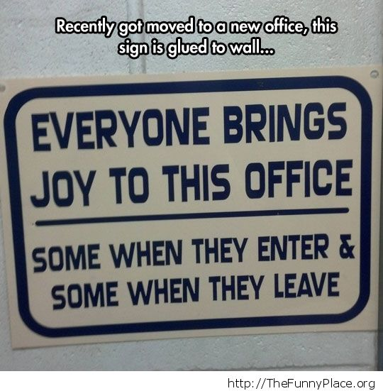 Bring joy to office