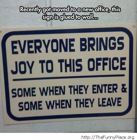 Bring joy to office