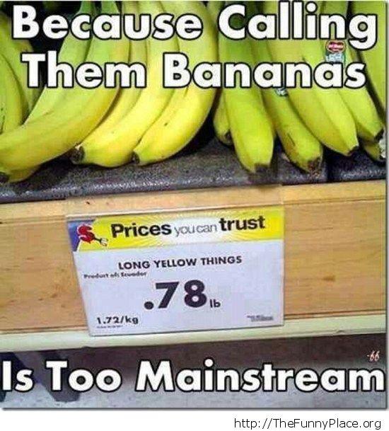 Buy bananas