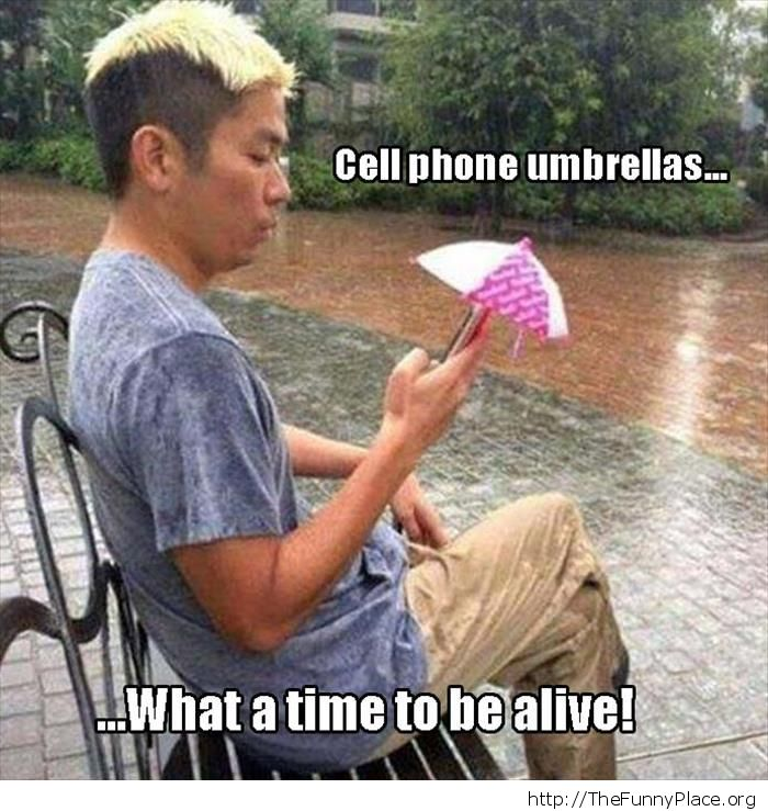 Cell phone umbrella