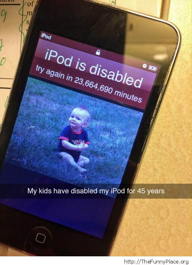 My iPod is disabled