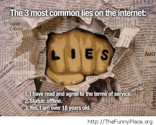 Three common lies