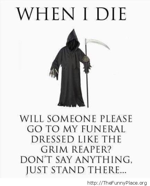 When i die