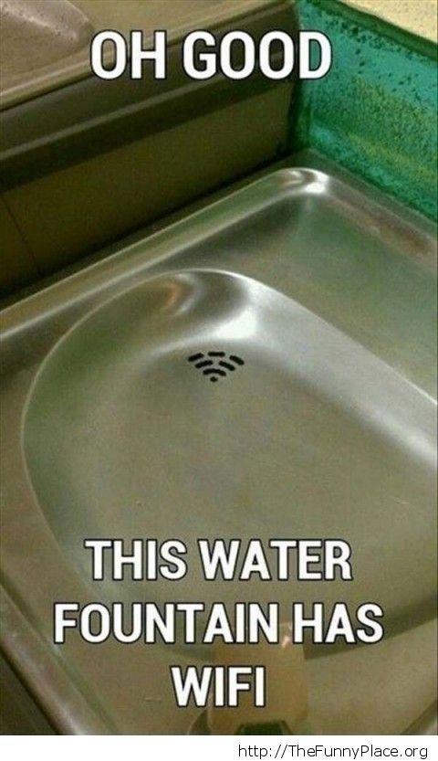Wifi fountain