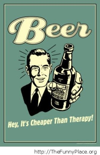 Cheaper than therapy vintage sign