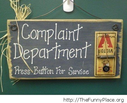 Complain department
