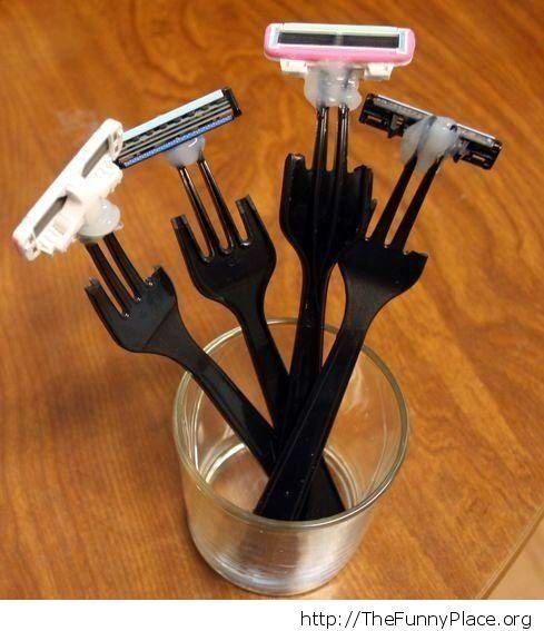 Fork razors