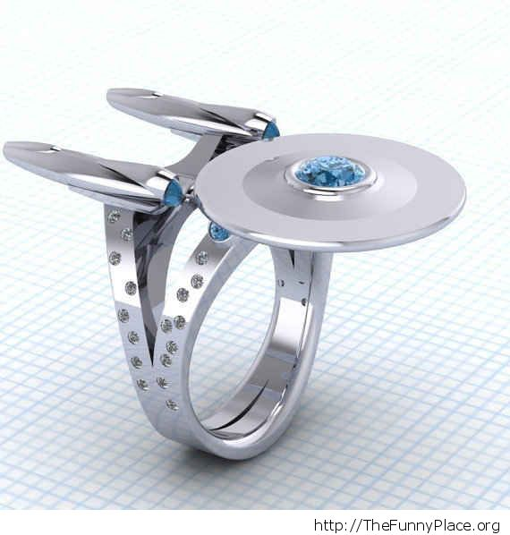 Geek wedding ring
