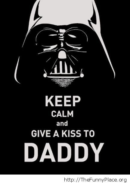 Give a kiss to daddy