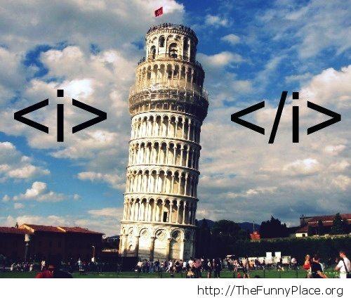 HTML formatting