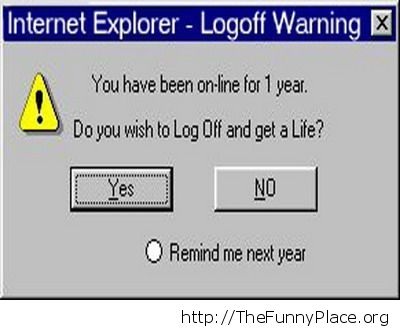 Log off warning