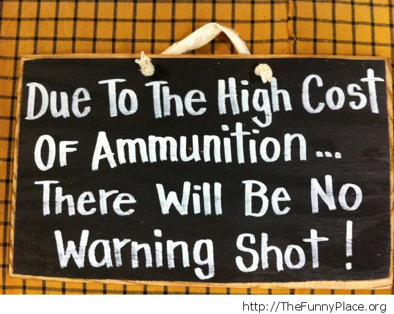 No warning shot