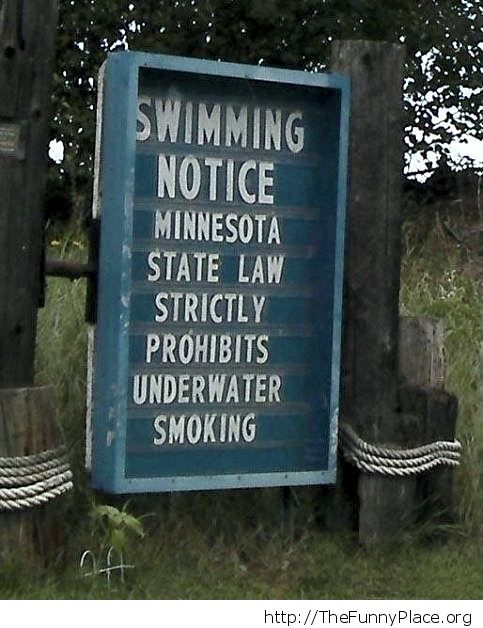 Swimming notice
