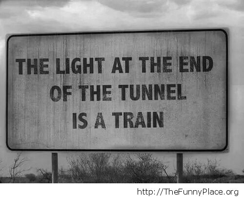 The light is a train