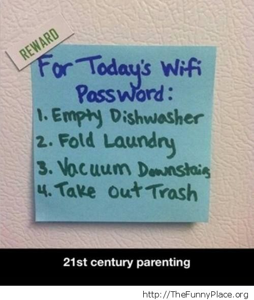 Today's wifi password