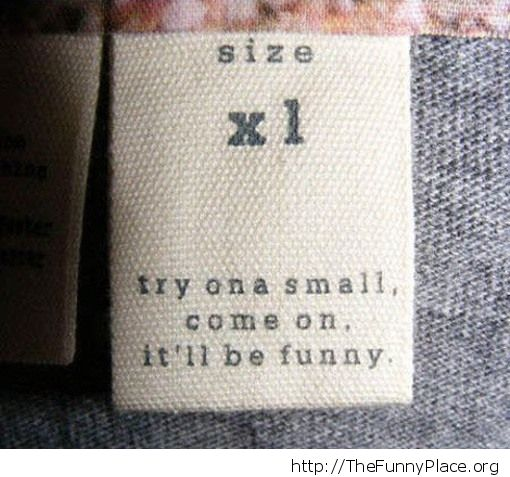Try on a small