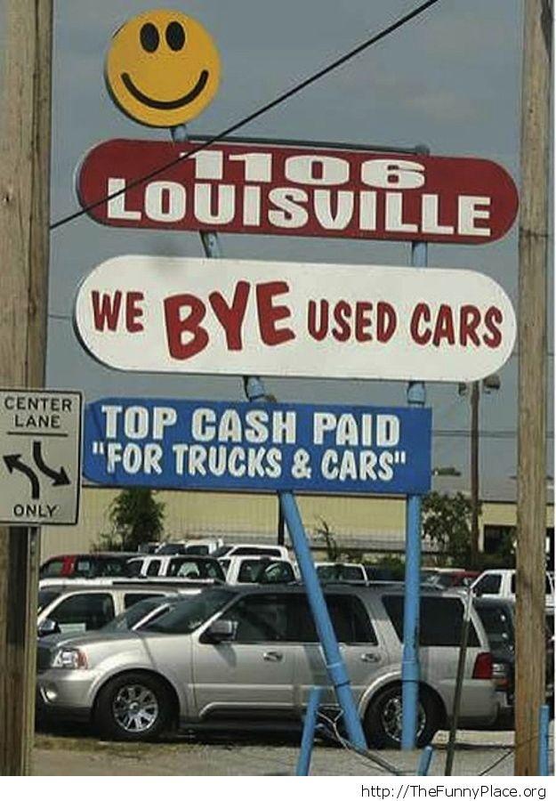 We bye used cars