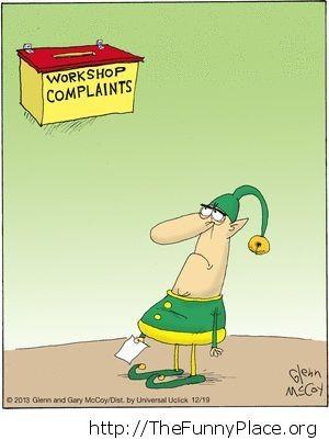 Workshop complaints
