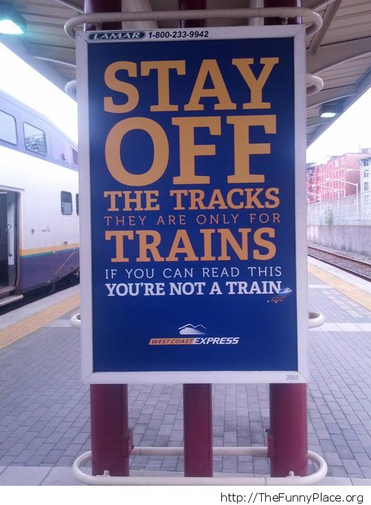 You're not a train