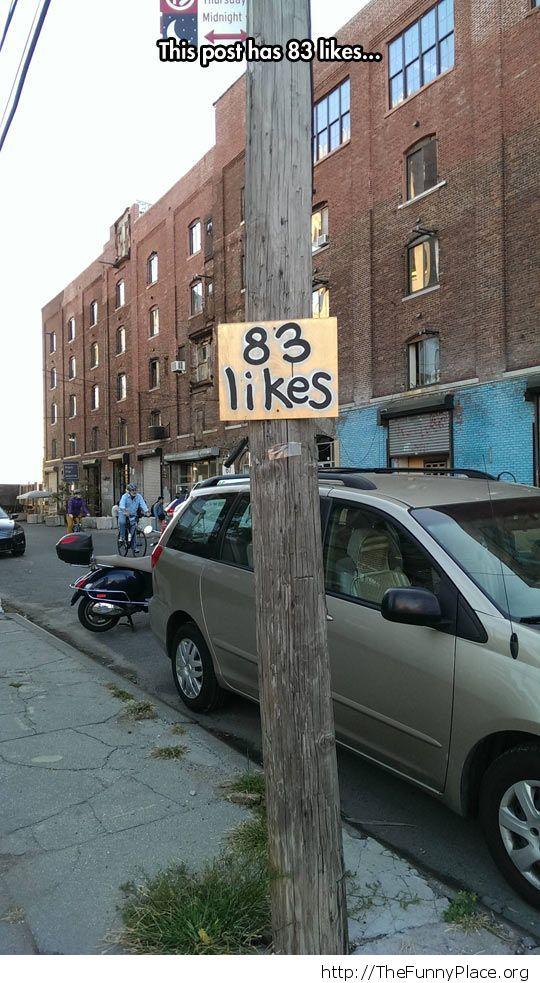 83 likes post