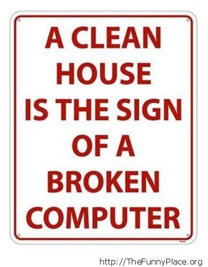 A clean house