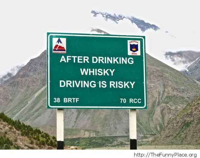 Drinking is risky