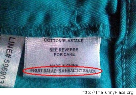 Funny clothing Tag