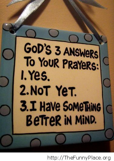 God's answers
