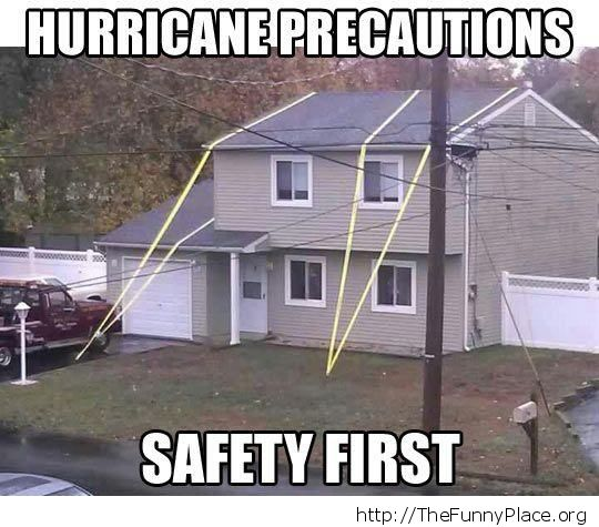 Hurricane precautions