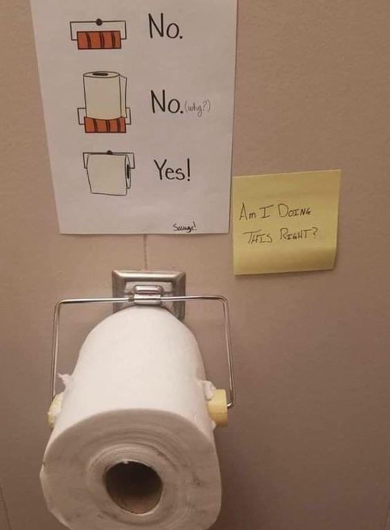 Toilet Paper Funny Humor